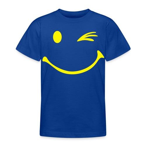 Kinderen T-shirt met smiley opdruk met knipoog - Teenager T-shirt