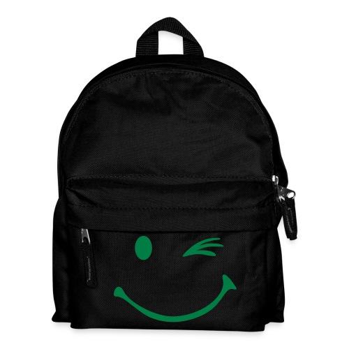 Rugtas met smiley opdruk met knipoog - Rugzak voor kinderen