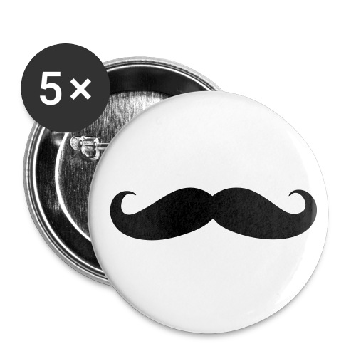 Mustache (pin) - Buttons small 25 mm