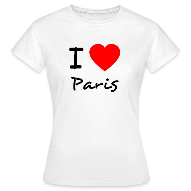 TShirt Klassik Frauen Paris
