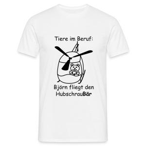T-Shirt -- Tiere im Beruf: Hubschrau-Bär fliegen - Männer T-Shirt
