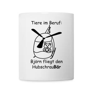 Tasse -- Tiere im Beruf: Hubschrau-Bär fliegen - Tasse