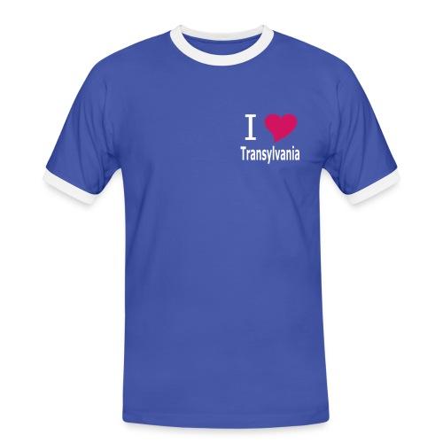 I love Transylvania - Siebenbürgen - Erdely - Ardeal -Transilvania - Romania - Rumänien - Dracula - Männer Kontrast-T-Shirt