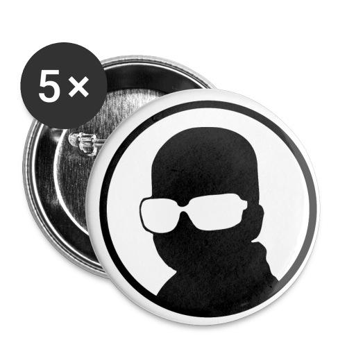 Badges (x5) - Lot de 5 petits badges (25 mm)