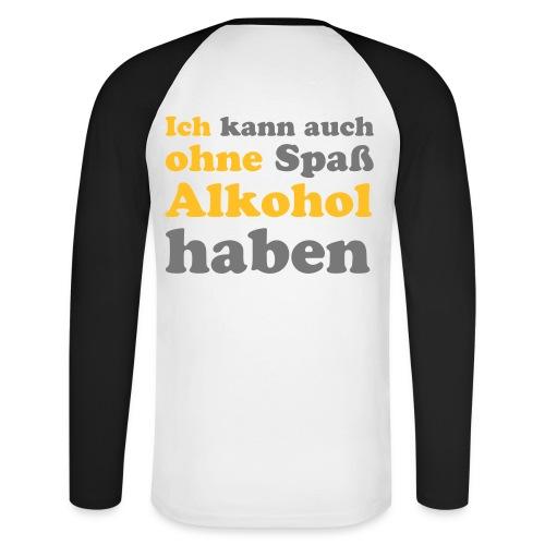Männer Pulli Spaß/Alkohol - Männer Baseballshirt langarm