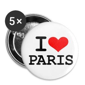 Anstecker - I Love Paris - Buttons klein 25 mm