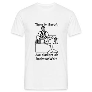 T-Shirt -- Tiere im Beruf -- Rechtsan-Wal-t - Männer T-Shirt