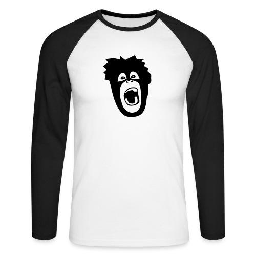 Tier Shirt Affe Gorilla Schimpanse Orang Utan Monkey Ape King Kong Godzilla - Männer Baseballshirt langarm