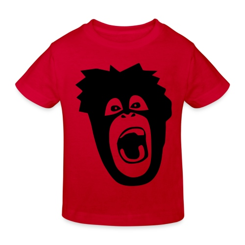 Tier Shirt Affe Gorilla Schimpanse Orang Utan Monkey Ape King Kong Godzilla - Kinder Bio-T-Shirt