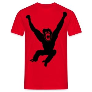 Tier Shirt Affe Gorilla Schimpanse Orang Utan Monkey Ape King Kong Godzilla - Männer T-Shirt