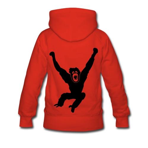Tier Shirt Affe Gorilla Schimpanse Orang Utan Monkey Ape King Kong Godzilla - Frauen Premium Hoodie