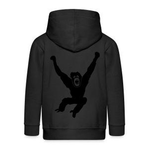 Tier Shirt Affe Gorilla Schimpanse Orang Utan Monkey Ape King Kong Godzilla - Kinder Premium Kapuzenjacke