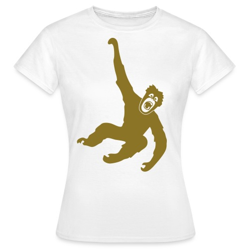 Tier Shirt Affe Gorilla Schimpanse Orang Utan Monkey Ape King Kong Godzilla - Frauen T-Shirt