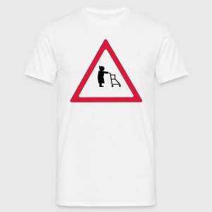 Attention pensionists Herre-T-shirt klassisk - Herre-T-shirt