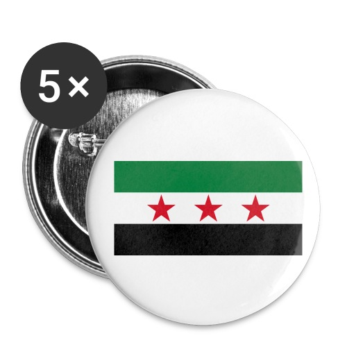 pre-1963 Syria Flag  - Buttons medium 32 mm