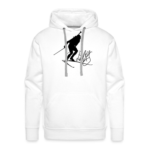 Autograph-picture hoodie men - Premium hettegenser for menn
