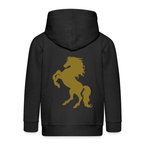 Girls Pony princess Hoodie - Kids' Premium Zip Hoodie