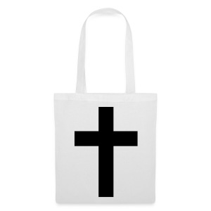 Black Cross Tote Bag - Tote Bag