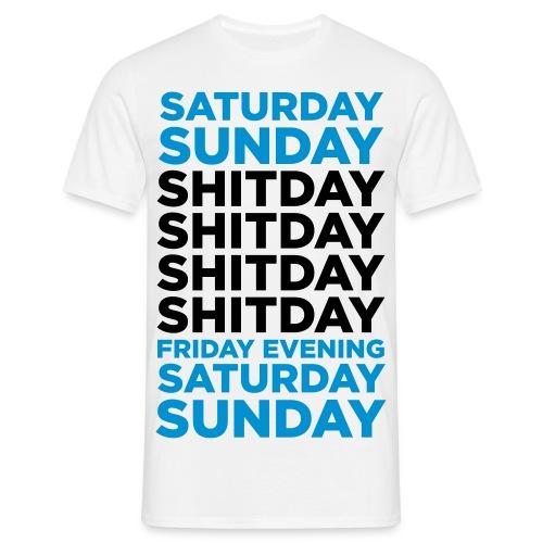 saturday sunday shitday - t-shirt - Herre-T-shirt