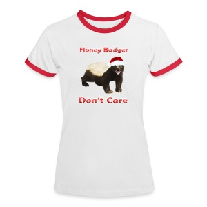 Honey Badger Don't Care - Frauen Kontrast-T-Shirt