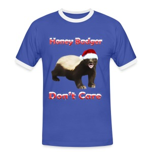 Honey Badger Don't Care - Männer Kontrast-T-Shirt