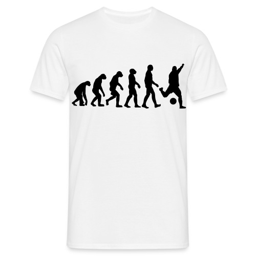 T-shirt:  Evolution Fußball - Männer T-Shirt