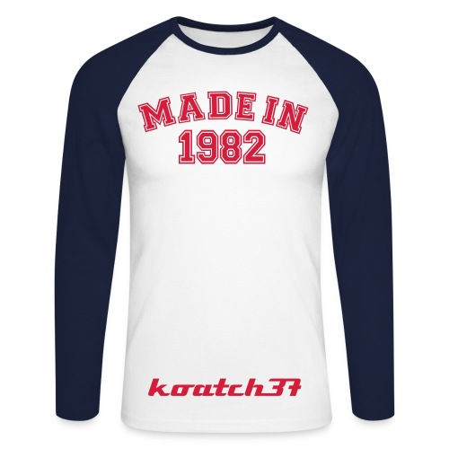 maillot 30 ans homme - T-shirt baseball manches longues Homme