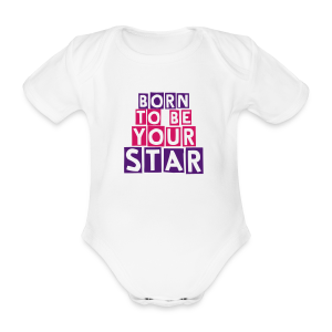 Born to be your star - Body bébé bio manches courtes