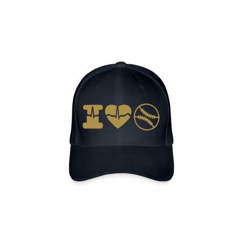 I LOVE BASEBALL - Gorra de béisbol Flexfit