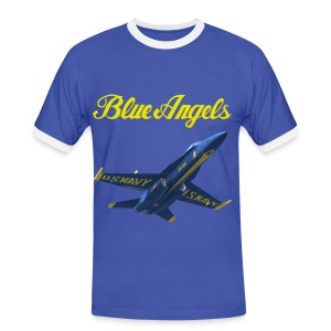 Blue Angels F-18 Hornet Shirt - Men's Ringer Shirt