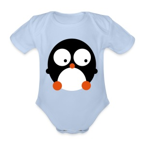Pinguin - Organic Short-sleeved Baby Bodysuit