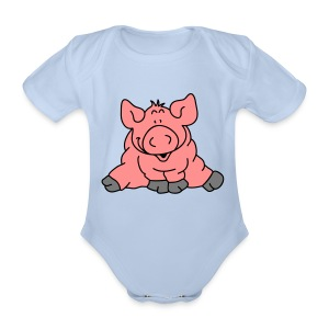 Pig - Organic Short-sleeved Baby Bodysuit