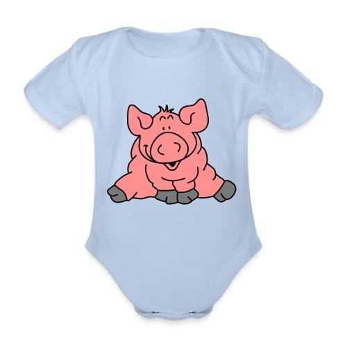 Pig - Organic Short-sleeved Baby Bodysuit