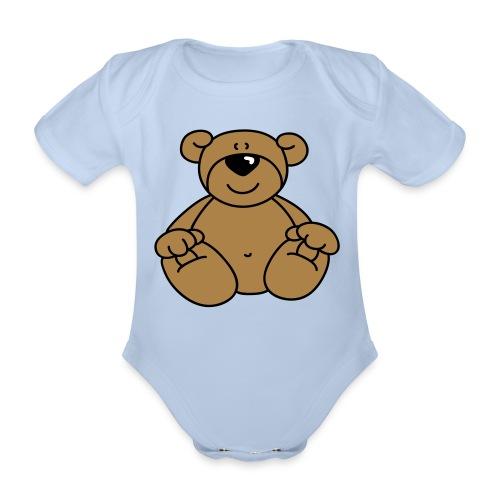 Bear - Organic Short-sleeved Baby Bodysuit