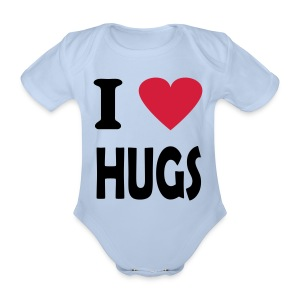 Hugs - Organic Short-sleeved Baby Bodysuit