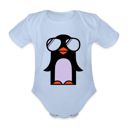 Funky Pnguin - Organic Short-sleeved Baby Bodysuit