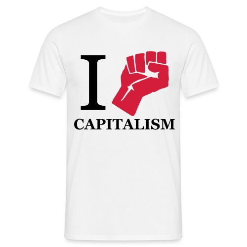 i fight capitalism - Herre-T-shirt