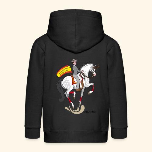 Andalusian Horselover felpa Bimbi - Felpa con zip Premium per bambini