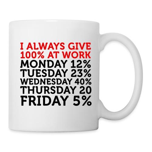 100% work - Mug