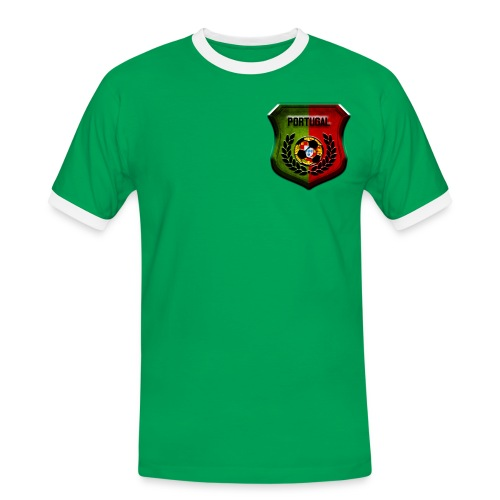 Tee-shirt supporter Portugual. - T-shirt contrasté Homme