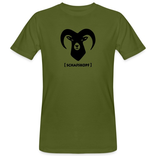 tier t-shirt schaf widder ziege horn hörner bock schafskopf hirsch geweih karten spiel kartenspiel - Männer Bio-T-Shirt