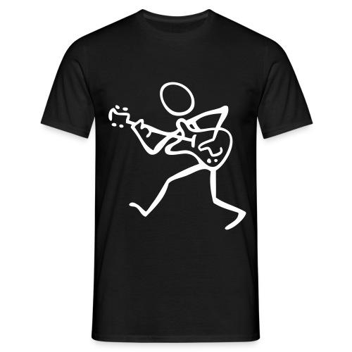 Men's T-Shirt - Trevor Jones 'Guitar Fool' T-Shirt with Trevor Jones name on sleeve