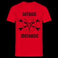 T-Shirts ~ Men's T-Shirt ~ Satanic Mechanic T-Shirt