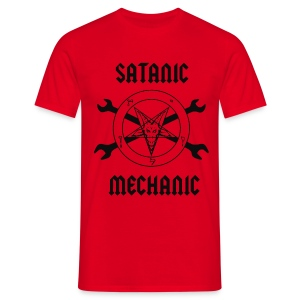 Satanic Mechanic T-Shirt - Men's T-Shirt