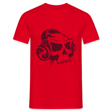 Skull and Headphones T-Shirts