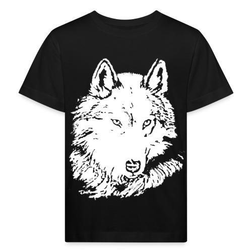T shirt enfant loup blanc - T-shirt bio Enfant