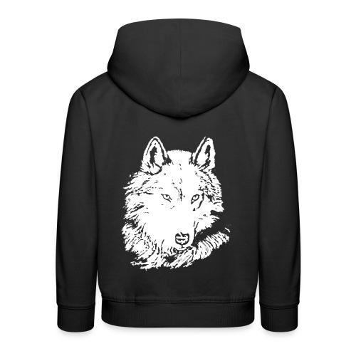 Pull à capuche enfant loup blanc - Pull à capuche Premium Enfant