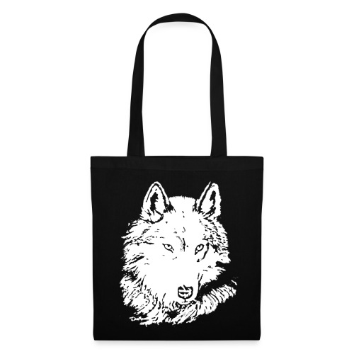 Sac loup blanc - Tote Bag