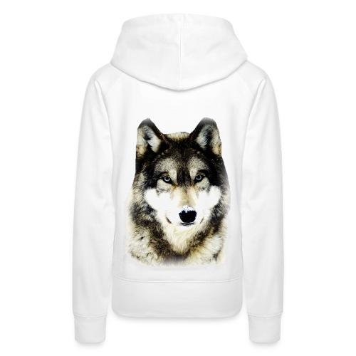 Sweat à capuche femme loup - Sweat-shirt à capuche Premium pour femmes