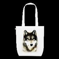 Sacs et sacs à dos ~ Sac en tissu biologique ~ T shirt femme loup